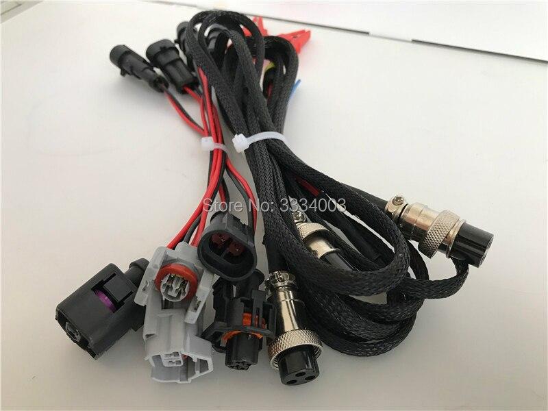 Hochdruck common-rail-prüfstand piezo injektor und pumpe verbinden draht stecker für BOSCH DENSO DELPHI SIMENS