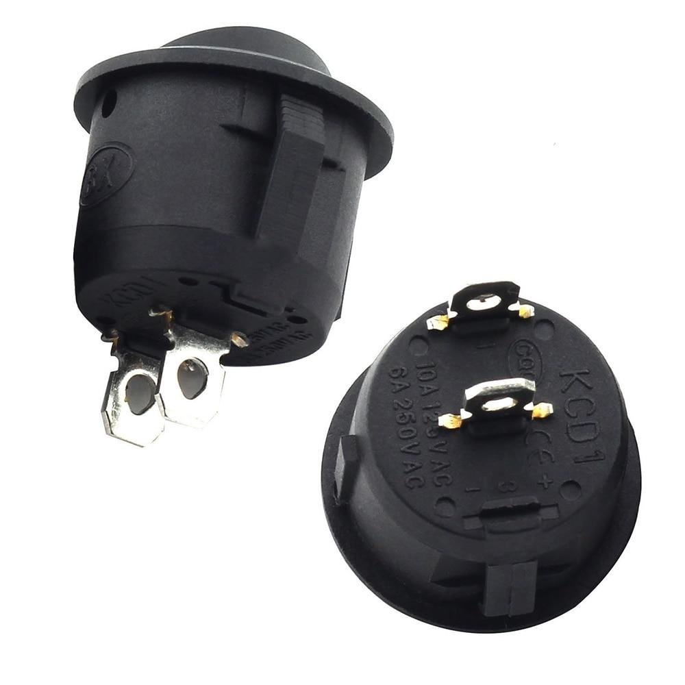 10 шт. Вкл/Выкл круглый Кулисный переключатель Светодиодная подсветка для автомобиля приборной панели Dash лодка Ван 12 В