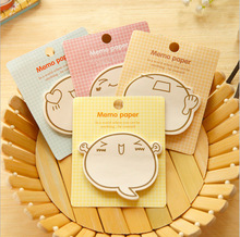 4Pcs/lot Cute Smilies Sticky Notesn times stickers diy stickers Sticky memo paper Office Supplies Stationery Scratch