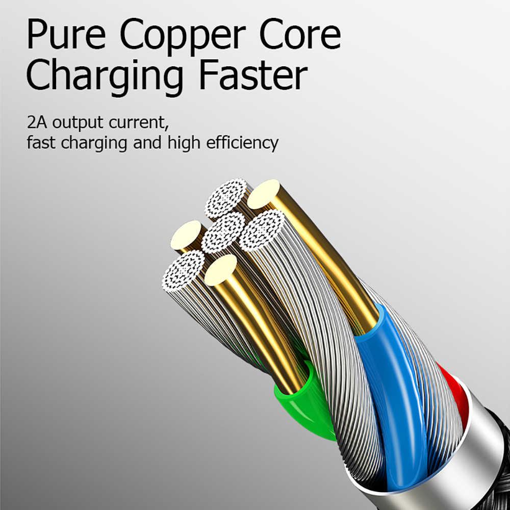 QC 3.0 مزدوج الكوع الهاتف المحمول USB كابل بيانات المصغّر USB نوع C كابل لسامسونج غالاكسي S9 S8 زائد كابل الشاحن