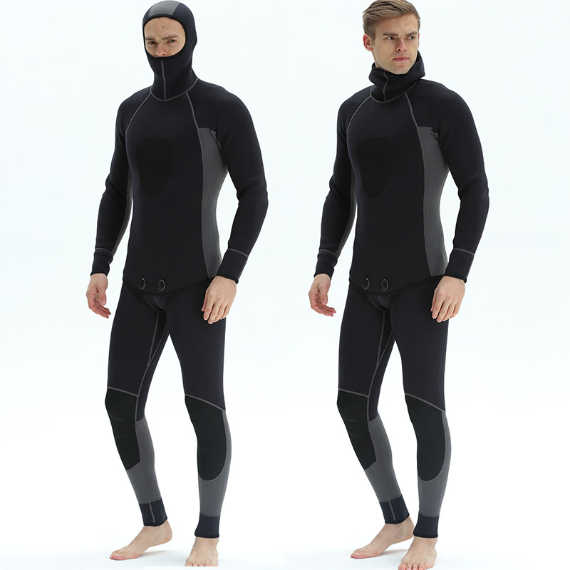 3mm new chloroprene rubber two pieces of submersible full black submersible suit surfers cold protection and warmth wetsuit suit3mm new chloroprene rubber two pieces of submersible full black submersible suit surfers cold protection and warmth wetsuit suit