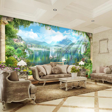 Custom any size  wall mural wallpapers Modern fashion Mountain Lake  scenery  Perspective Wall Sticker YBZ136 export quality standard without any additive 100g harvest in remote mountain 99% cracked cell wall pure pine pollen tablets