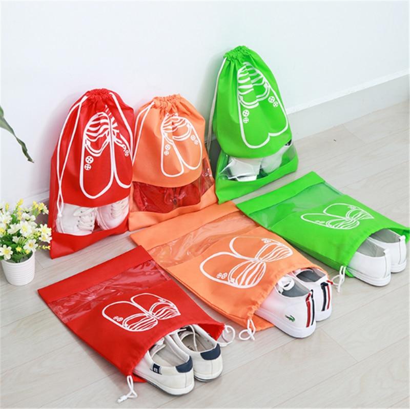 2 Größen Wasserdichte Schuhe Taschen Tasche Frauen Reisetasche Tragbare Kordelzug Verpackung Organizer Für Männer Journay Organizador Tasche 100% Original