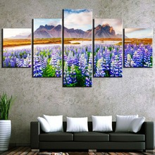 5 Piece HD Print Large Lupine Flowers Cuadros Decoracion Landscape Canvas Wall Art Home Decor For Living Room Canvas Painting lupine piko 7