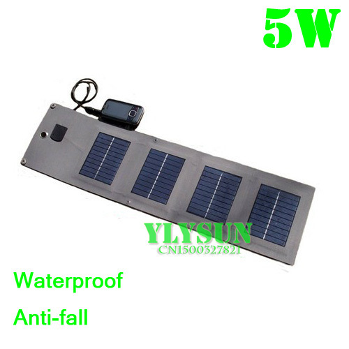 folding solar panel 5w Solar cell phone charger Outdoor emergency charge Solar charging panels Waterproof Anti-wrestling strike