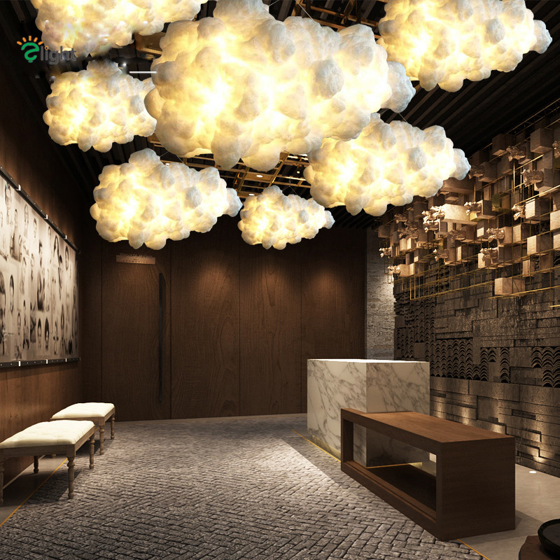 nordic minimalism creative floating cloud shape foyer e27 led pendant light novelty white cotton. Black Bedroom Furniture Sets. Home Design Ideas