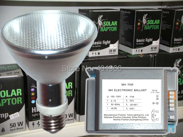 Metal Halide Lampen : Terrarium lighting 5500k uvb reptile hqi 70w par30 metal halide lamp