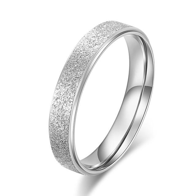 KNOCK Высокое качество модные простые скраб нержавеющая сталь женские кольца 2 мм ширина розовое золото цвет палец подарок для девушки ювелирные изделия - Цвет основного камня: 0000022
