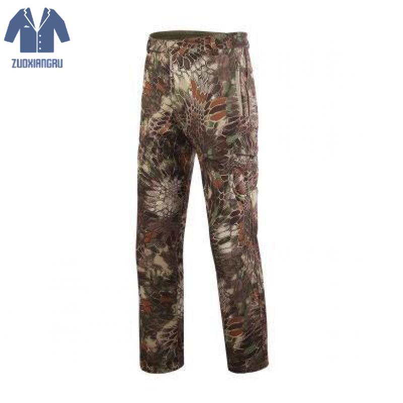 Shark Skin Softshell Outdoors Tactical Military Camouflage Pants Men Winter Army Waterproof Thermal Camo Hunt Hike Fleece Pants