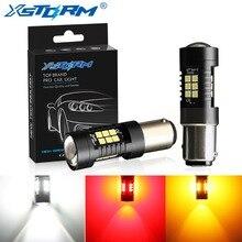 2 шт. P21/5 Вт светодиодный лампы 1157 BAY15D светодиодный 21 3030SMD авто светильник лампы тормозной фонарь автомобиля сигнальная лампа 12V 24V белого и желтого цвета, желтый красный