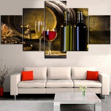 HD Printed Painting 5 Pieces White And Red Grapes Wine Modular Picture Home For Modern Decorative Bedroom Wall Art Framework