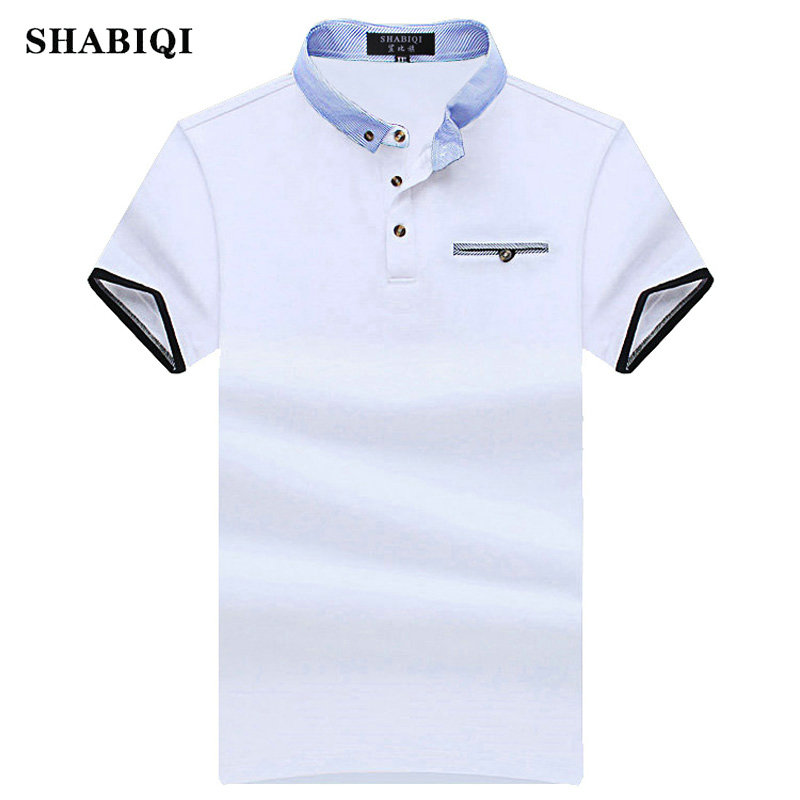 SHABIQI New 2018 Men   Polo   SHABIQI Brand Clothing Male Fashion   Polo   Shirt Men Casual Lapel   Polo   Shirts 5XL 6XL 7XL 8XL 9XL 10XL