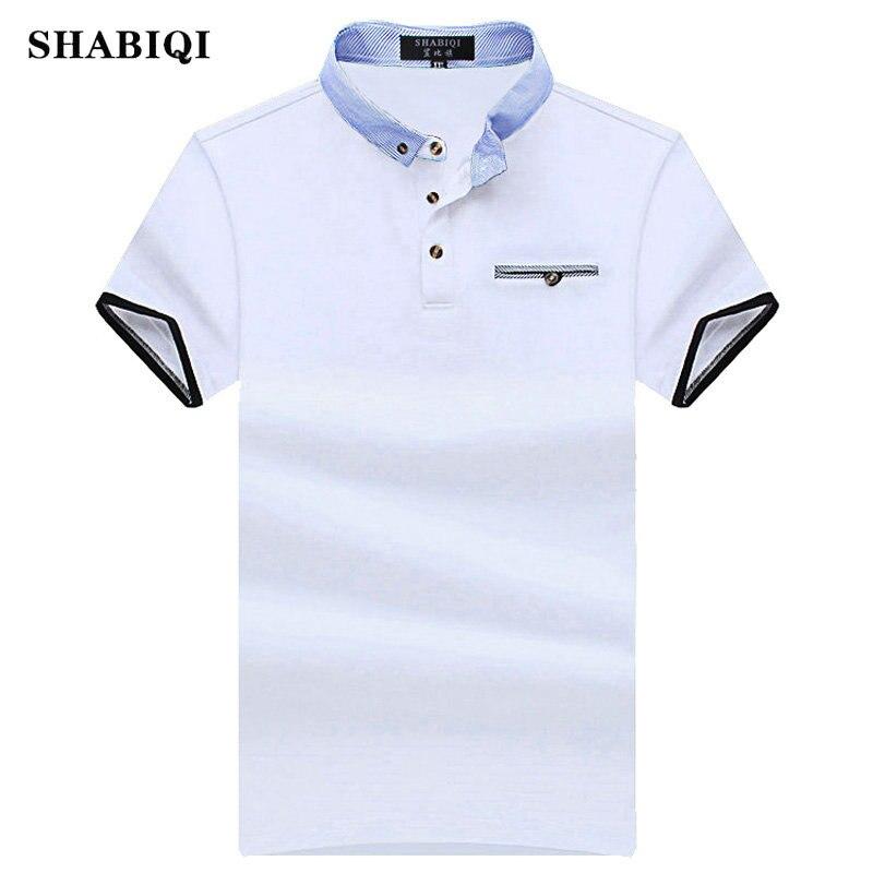 SHABIQI New 2019 Men Polo SHABIQI Brand Clothing Male Fashion Polo Shirt Men Casual Lapel Polo Shirts 5XL 6XL 7XL 8XL 9XL 10XL