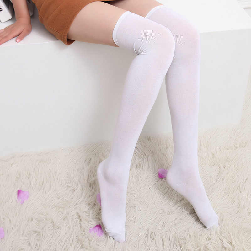 ถุงเท้าผู้หญิงถุงน่องอบอุ่นต้นขาสูงกว่าถุงเท้าเข่าถุงเท้ายาวผ้าฝ้ายถุงน่อง medias เซ็กซี่ถุงน่อง medias de mujer meia arras