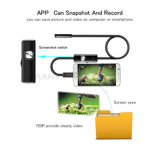 Image 4 - 8mm Wifi Endoscope 1M 2M 3.5M 5M 10M Waterproof Camera Borescope Soft Wifi Endoscope Camera Borescope Camera For Android IOS