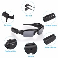 New Outdoor Recording Camera Sunglasses Bluetooth 4 0 1080P HD Video Recorder Photograph Polarized Glasses Protective