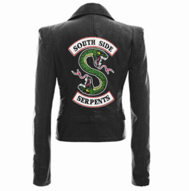 Jackets Riverdale South Side Serpents Black Brown Pu Leather Jacket Women Riverdale Serpents Streetwear Leather Coat in Jackets from Women 39 s Clothing