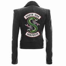 Jackets Riverdale South Side Serpents Black Brown Pu Leather Jacket Women Streetwear Coat