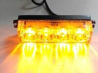 High power 4LED Amber/red/blue/white Car strobe Emergency Beacon Light warning lights flash strobe 12V/24V general use