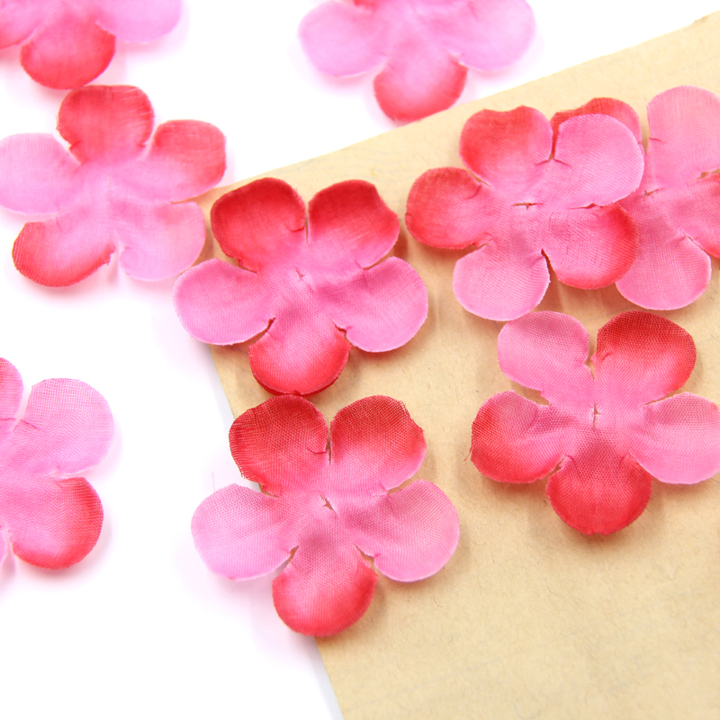 500pcs romatic red pink rose petals silk artificial cherry for Artificial cherries decoration