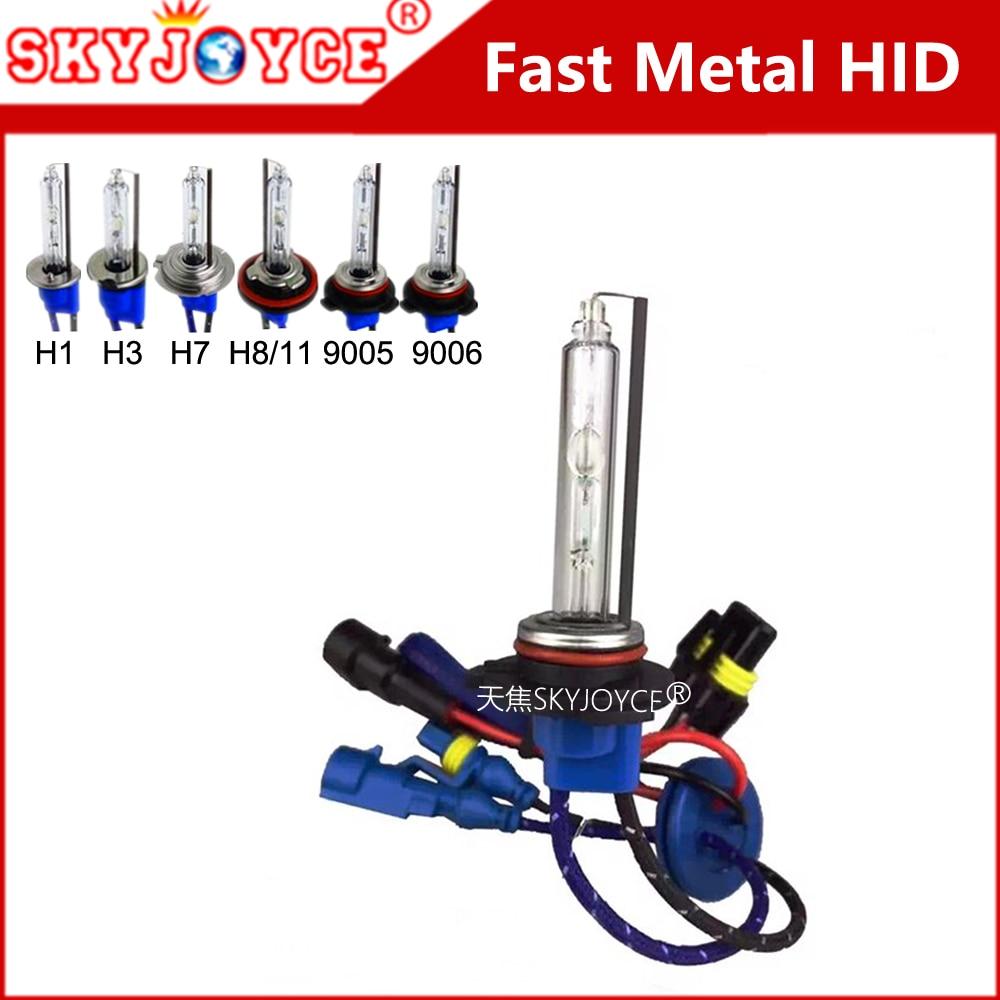 Metal base AC 55W 35W hid xenon bulb H7 metal H1 H3 5500K H11 xenon hid headlight HB3 HB4 better than cnlight H7 fast bright fast star ac 55w h1 h3c h7c h7rc hb3 hb4 car xenon hid headlight bulb