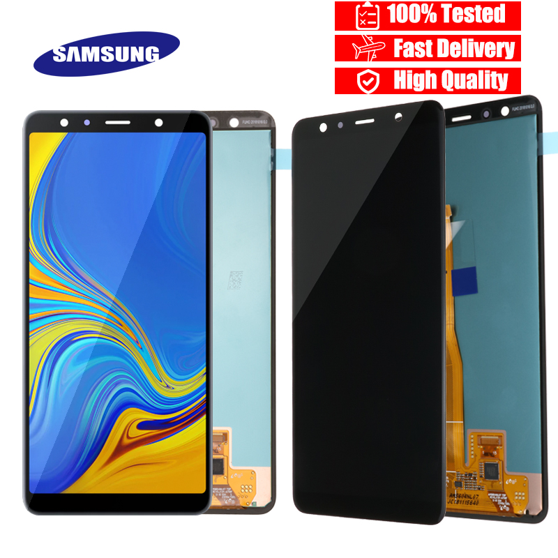 6 0 Super AMOLED LCD For Samsung Galaxy A7 2018 A750 SM A750F A750F LCD Display
