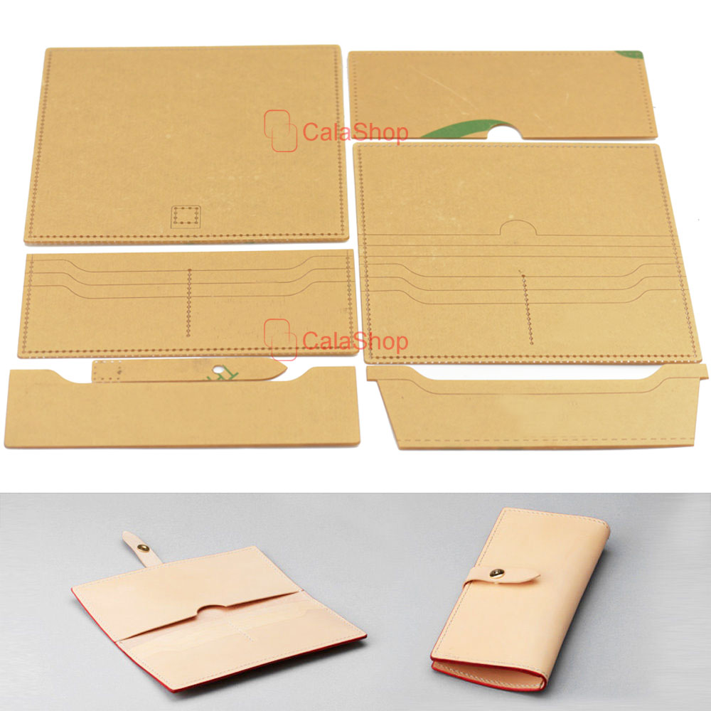 1 Pcs / Lot Acrylic Wallet Leather Template Model Handwork Leather ...