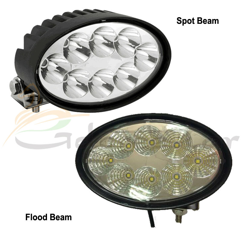 ФОТО 2016 New 5.5 inch oval shape Light New Adjustable Bracket 40w LED Work Light for Agricultural Machinery