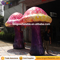 one pair decorative inflatable mushroom 4m with led lighting for stage decoration/alice theme or customize BG-A1037 flashing toy