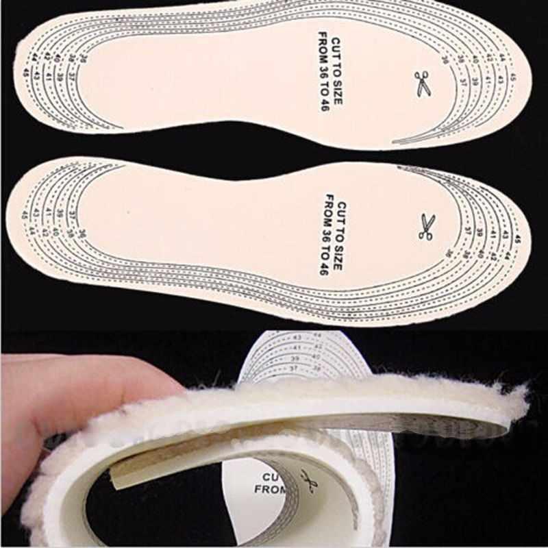 Gootrades 1 par Unisex hombres Wemen invierno cálido lana suave invierno zapato plantilla almohadilla tamaño 36-46