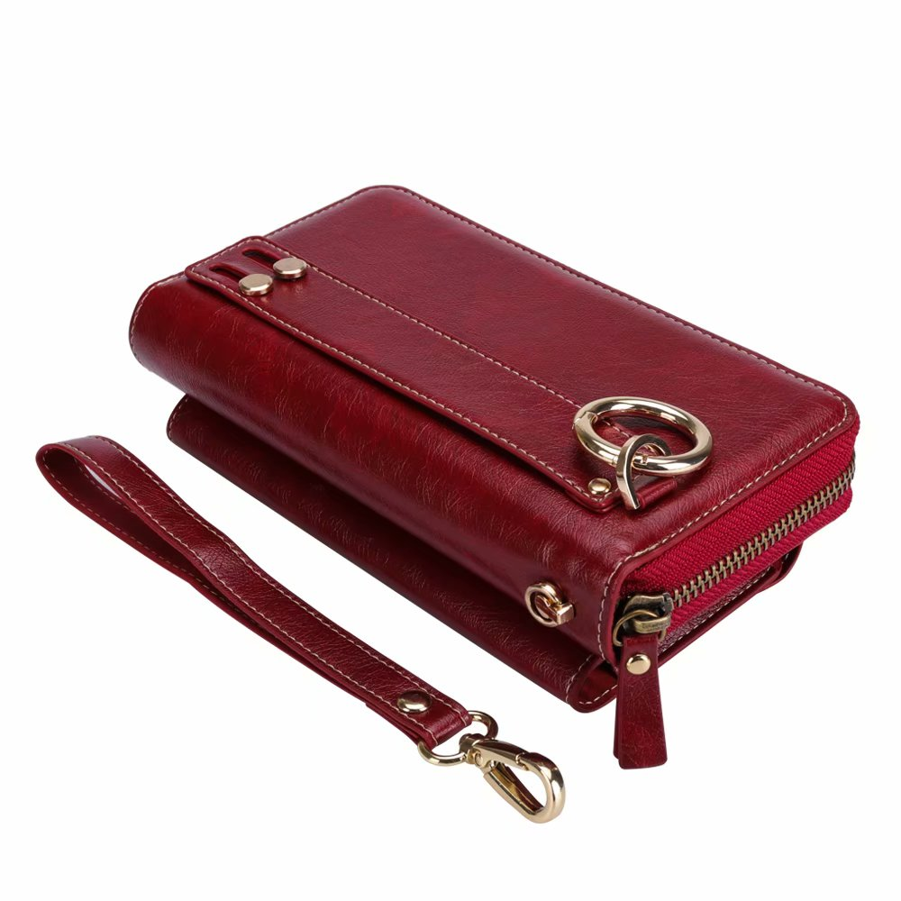 Finger Ring Belt Hand Strap PU Wallet Mobile Phone Case Pouch For Sony Xperia XZ2/L2/XZ2 Premium/XA1 Plus/XZ Premium/XZ1/Z5 Plus iphone xs 財布