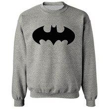 2016 Мода Бэтмен Символ хлопок Толстовки Мужчин С Капюшоном С Длинными рукавами Кофты Классические Мужские Толстовки и Кофты Плюс размер