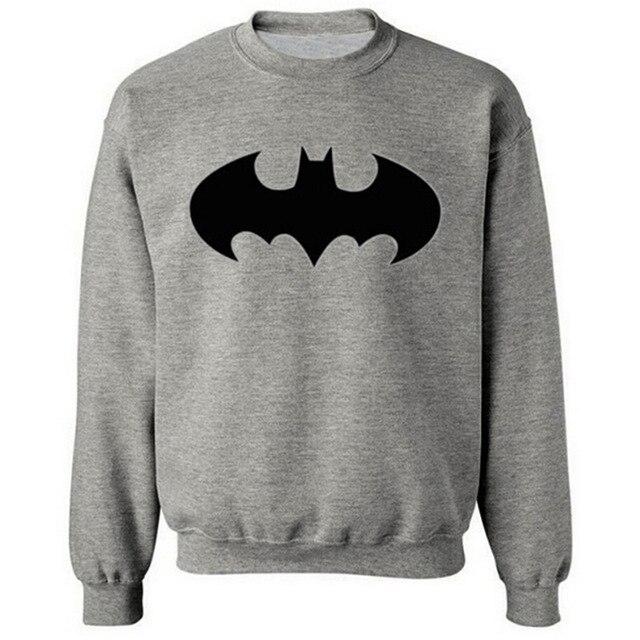 2016 Fashion Batman Symbol cotton Hoodies Men Hoody Long-sleeved Sweatshirts for Classic Mens Hoodies and Sweatshirts Plus size