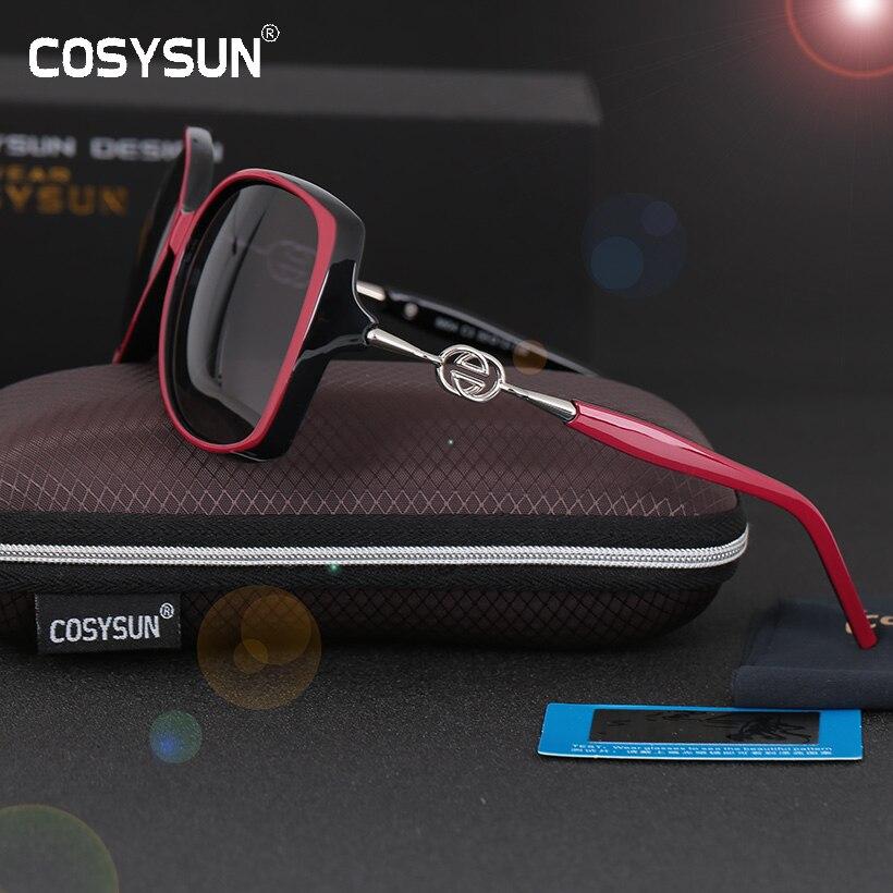 COSYSUN Brand woman sunglasses UV400 Polaroid Luxury
