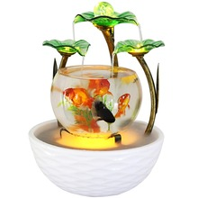 Humidifier Fountain Waterfall-Cascade Aquarium Fish-Tank Indoor-Decoration Water-Feature