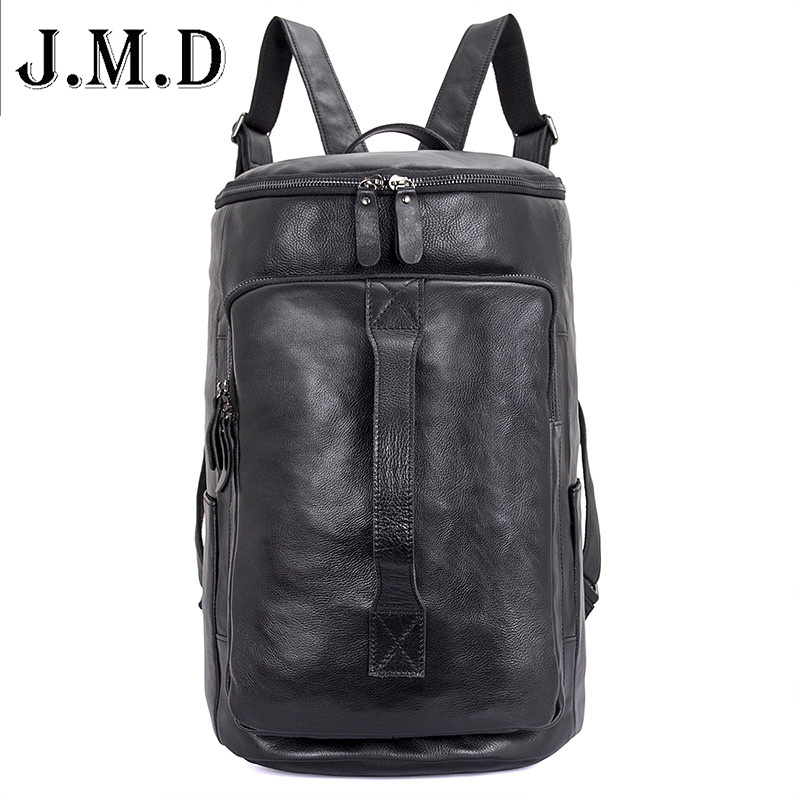 Large Capacity Man Travel Bag Mountaineering Backpack Men Bags Genuine Leather Bucket Backpack Shoulder Bag Laptop Bag