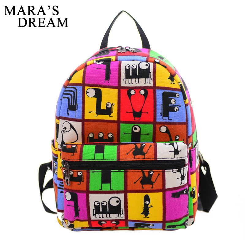 Mara's Dream Printing Canvas Backpacks Mini School Bags For Teenage Girls Backpack Women School Shoulder Bags Small Women Bag mohd mazid and taqi ahmed khan interaction between auxin and vigna radiata l under cadmium stress