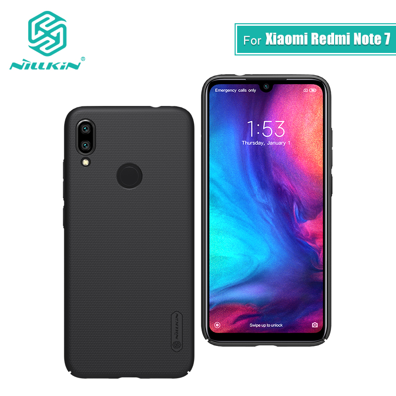 Redmi note 7 funda 6,3 NILLKIN Frosted PC mate funda trasera dura regalo soporte para xiaomi redmi note 7 pro funda redmi note s 7 s