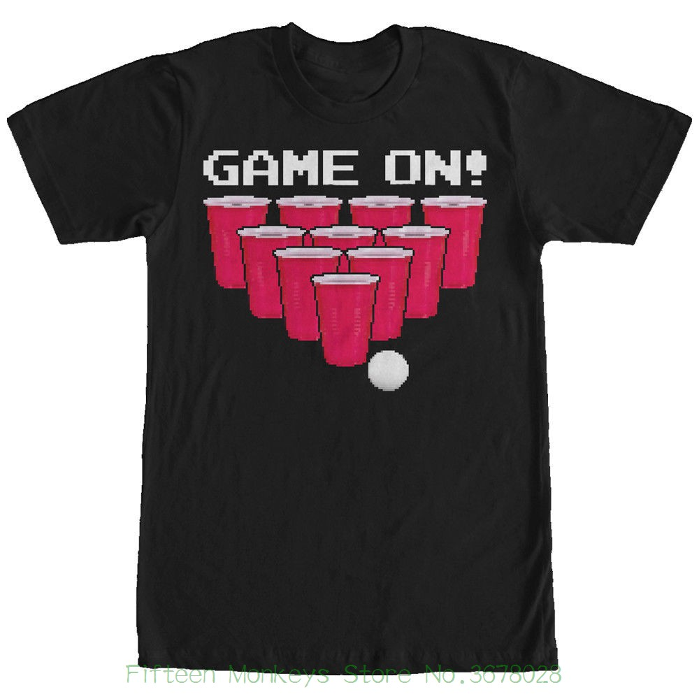Printed T Shirt Men Cotton Couple New Style Lost Gods Game On Beer Pong Mens Graphic T Shirt image