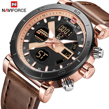 2018 New NAVIFORCE Luxury Brand Men Analog Digital Sports Watches Men's Army Military Watch Man Quartz Clock Relogio Masculino