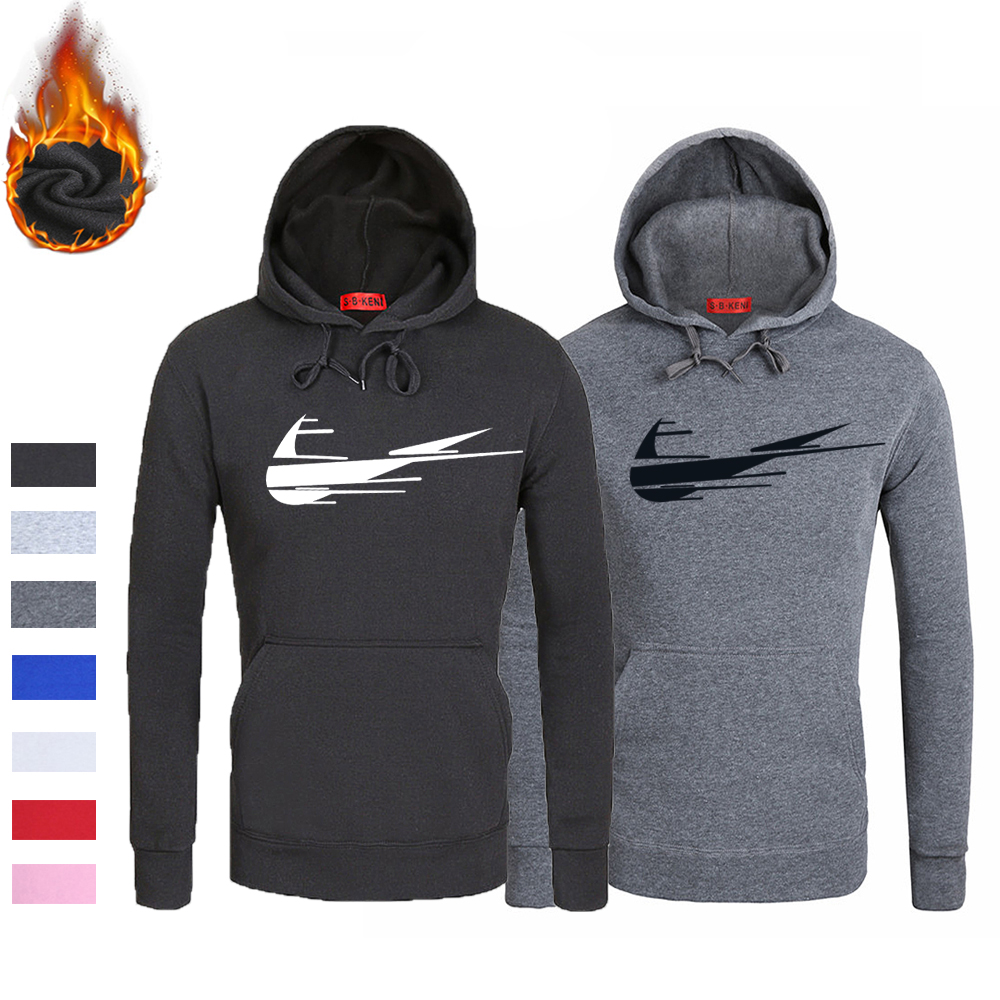 Autumn Winter Mens Hoodies 2018 Just do it Brand Fleece Hip hop Men Hoodie Casual Loose Fashion Pullover Male Hooded Sweatshirt men fashion autumn and winter men s hooded leisure sweatshirt