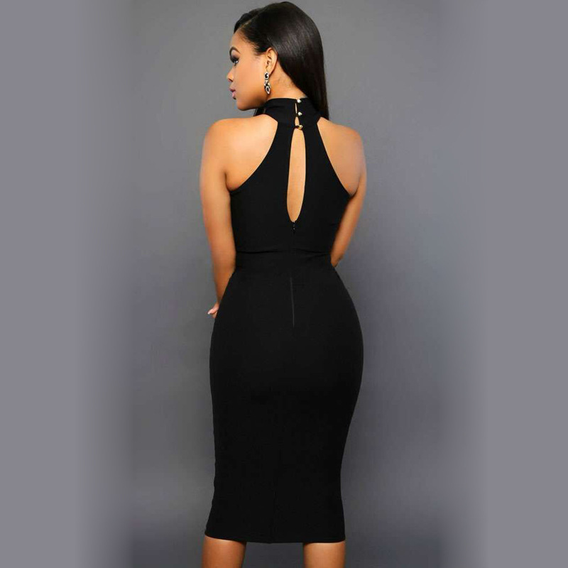 Black Sleeveless slim Dress | Technologies Best