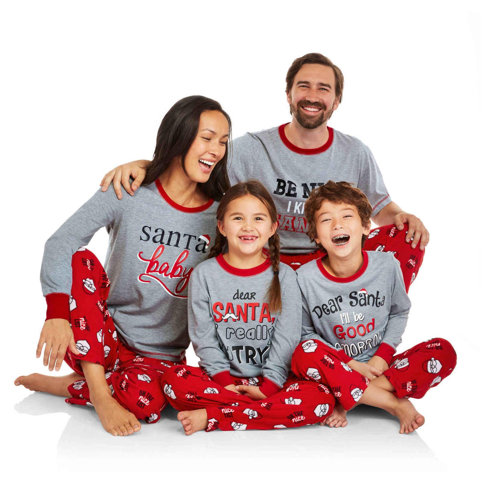 311b2359e8fc PUDCOCO Pop 2018 familia juego de pijamas de Navidad conjunto mujeres  hombres bebé niño niña ciervo