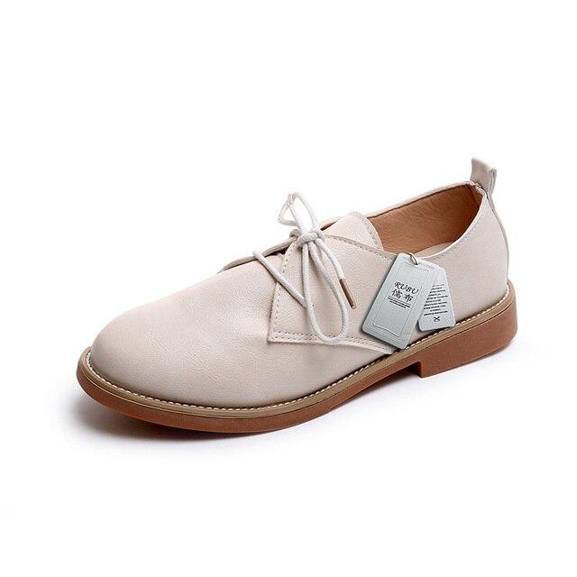 1ab833f25 الايطالية أحذية نسائية عادية بسيطة ومريحة 2017 خريف جديد براءات جلد الحجم  35-39 الشحن