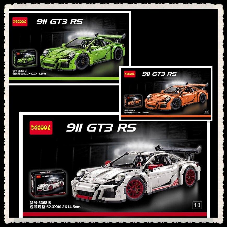 IN STOCK 2726PCS DECOOL 3368 technic series 911 GT3 RS Model Building Kits figures Blocks Bricks Compatible 42056 20001