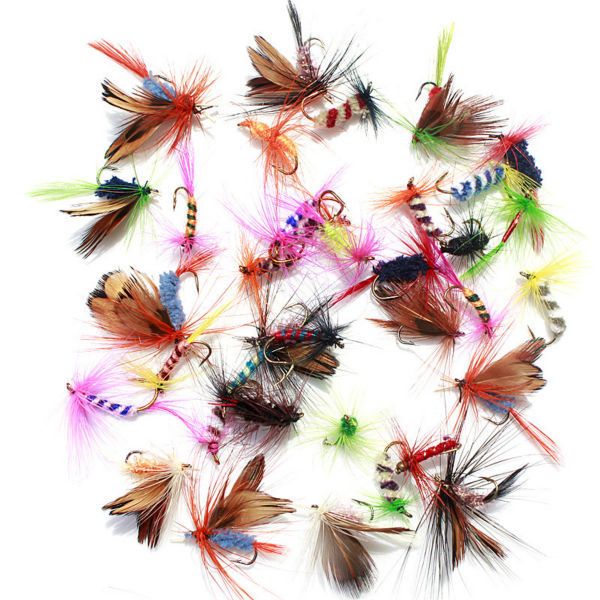 36pcs Fishing Lure Butter fly Insects different Style Salmon Flies Trout Single Dry Fly Fishing Lures Fishing Tackle 2