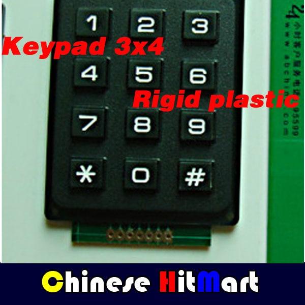 5pcs Keypad 4 x 3 Matrix Array 12 Key Arduino Membrane Switch