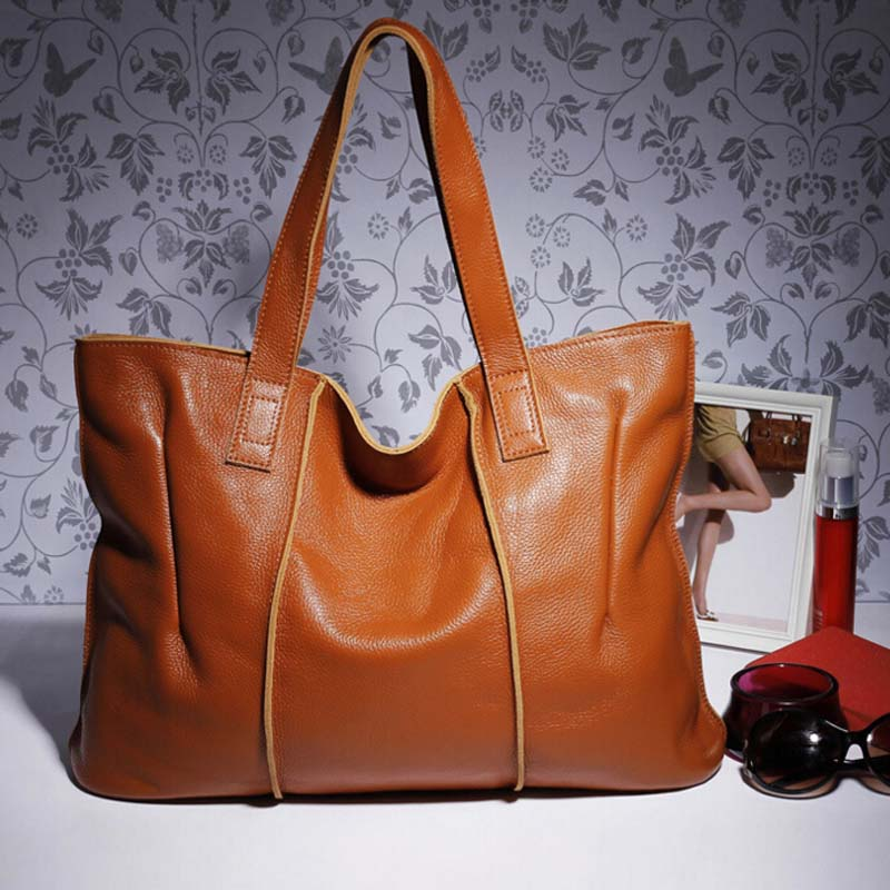 100% Genuine Leather Bag Large Women cow Leather Handbags Famous Brand Women Messenger Bags Big Ladies Shoulder Bag Bolsos Mujer