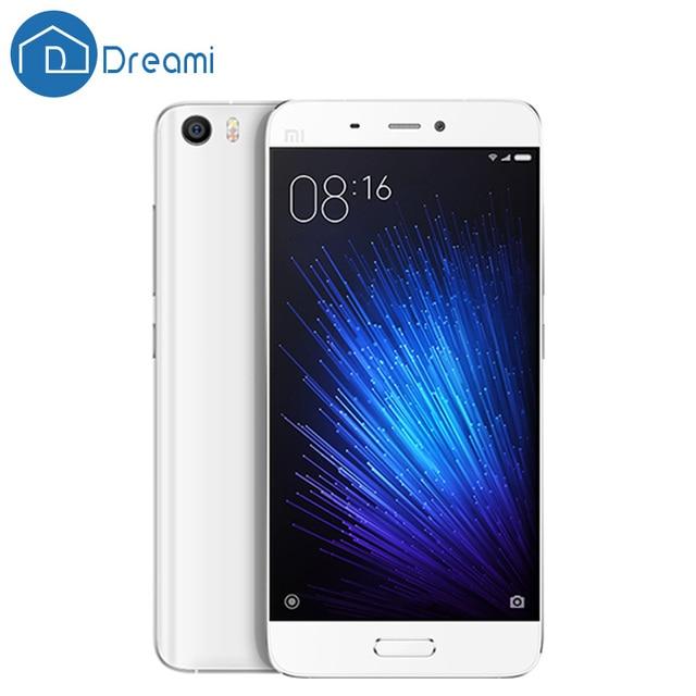 Dreami Русский Склад в Исходном xiaomi Mi5 Prime Мобильный Телефон Mi 5 snapdragon 820 3 ГБ RAM 64 ГБ ROM 5.15 дюймов Отпечатков Пальцев ID mi5