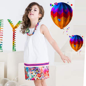 Girls Dresses Costumes Princess Summer Baby Kids Gilr for Necklace